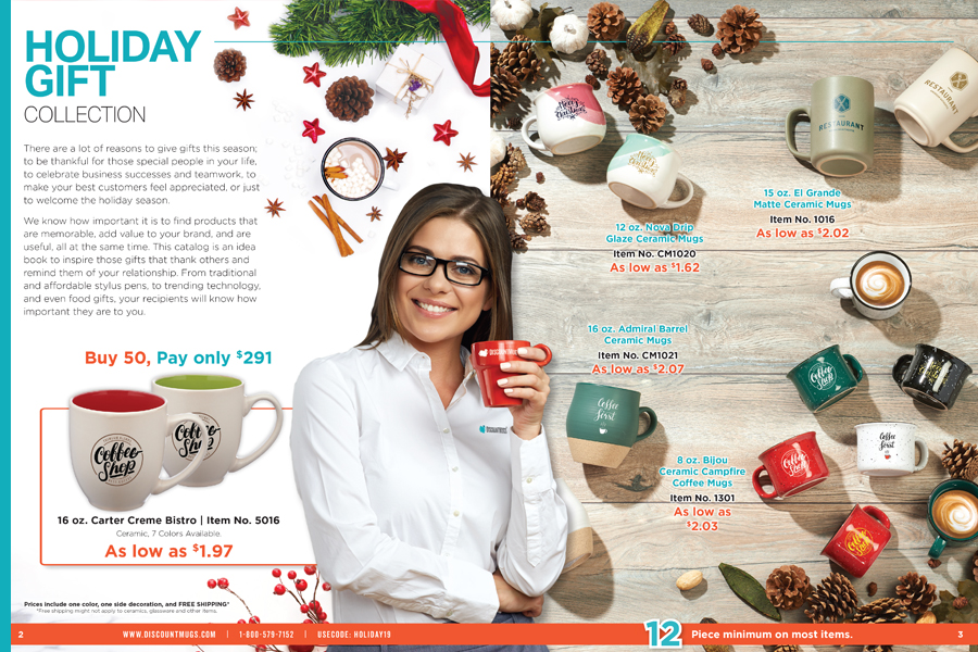 2019 DiscountMugs Holiday Gift Collection