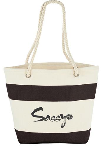 Capri Stipes Cotton Tote Bags