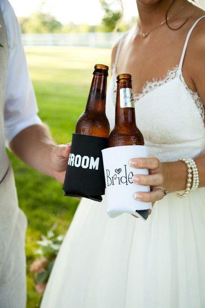Bride and Groom Koozies