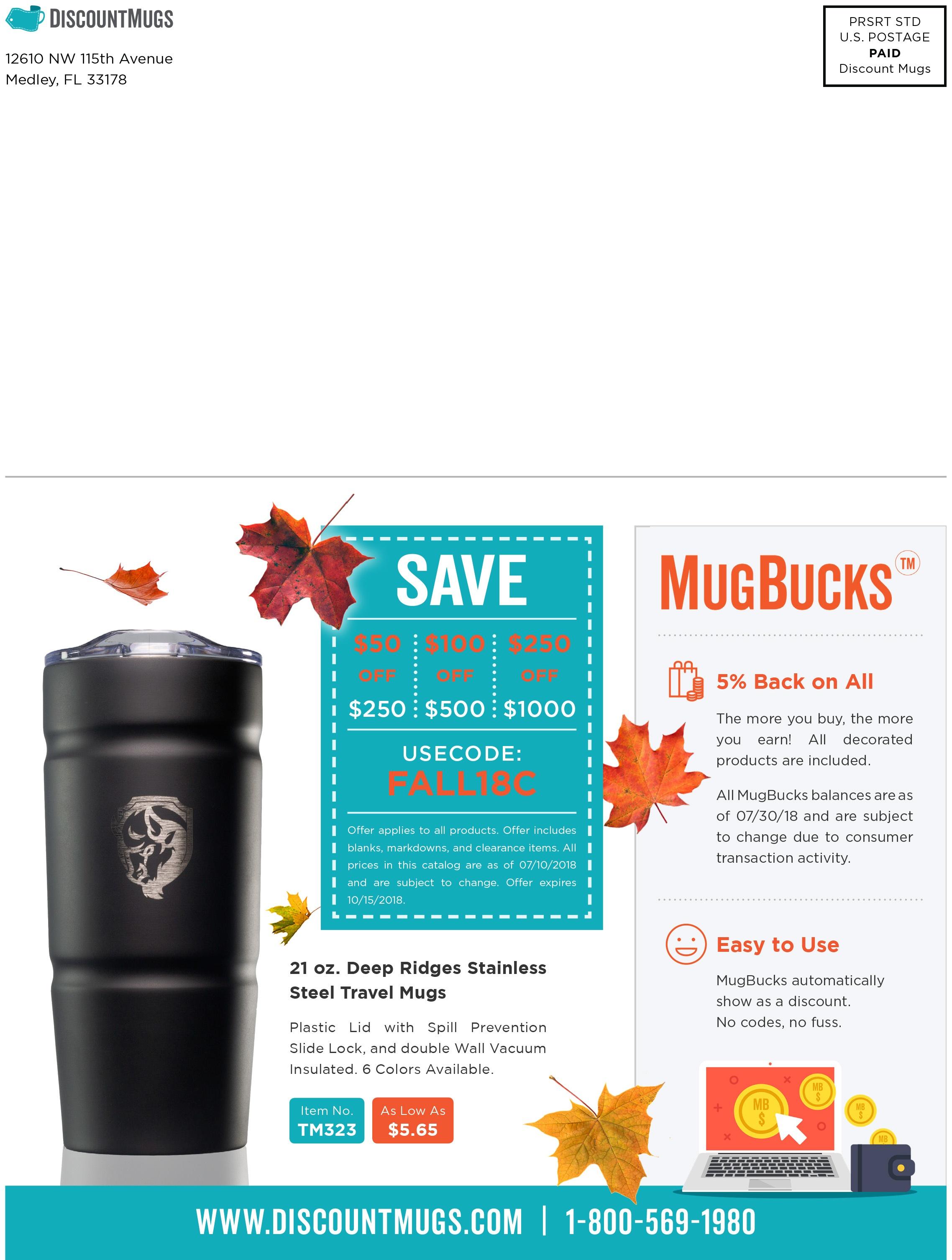Discount Mugs Fall Catalog