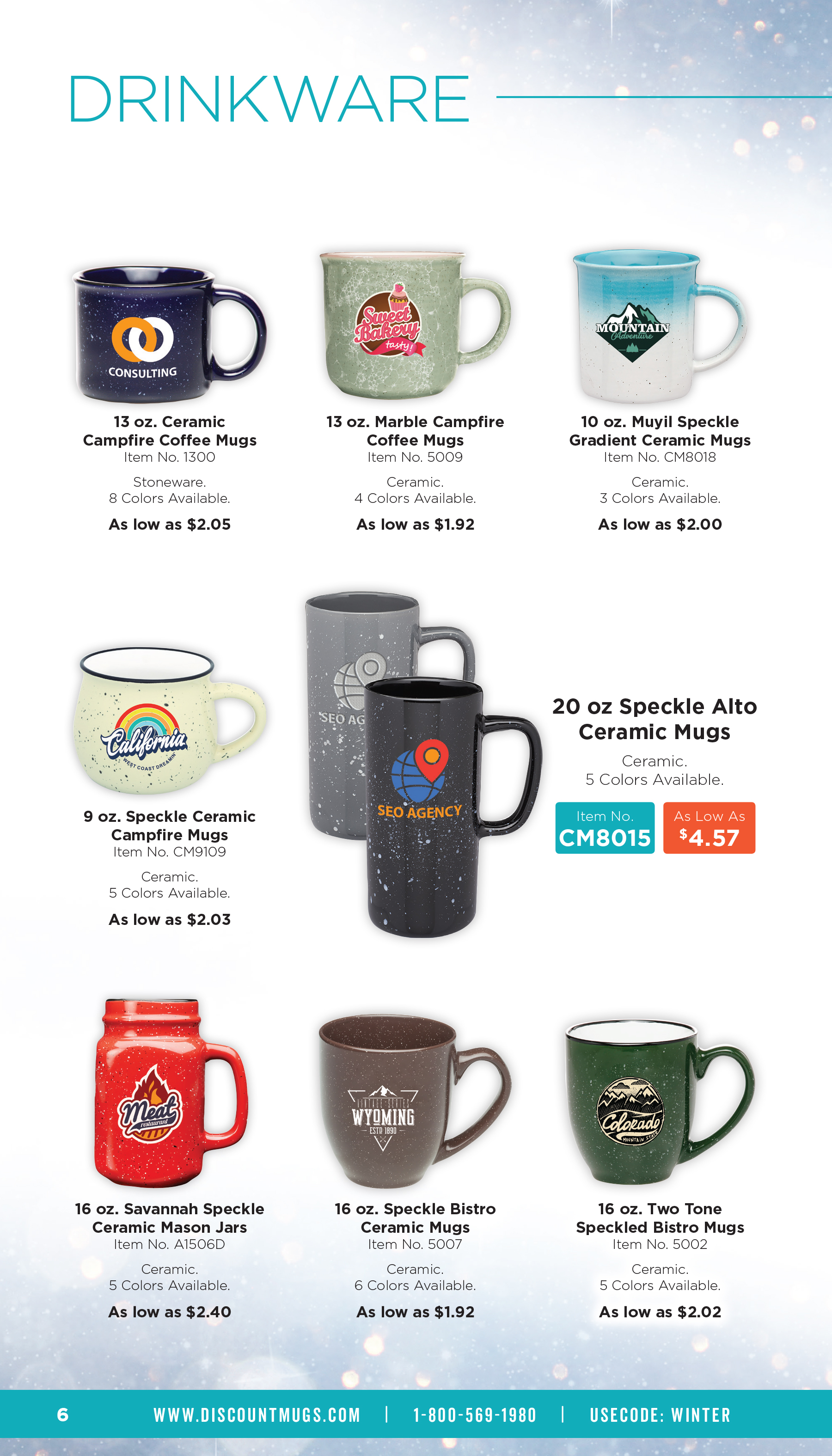 Winter Drinkware Items