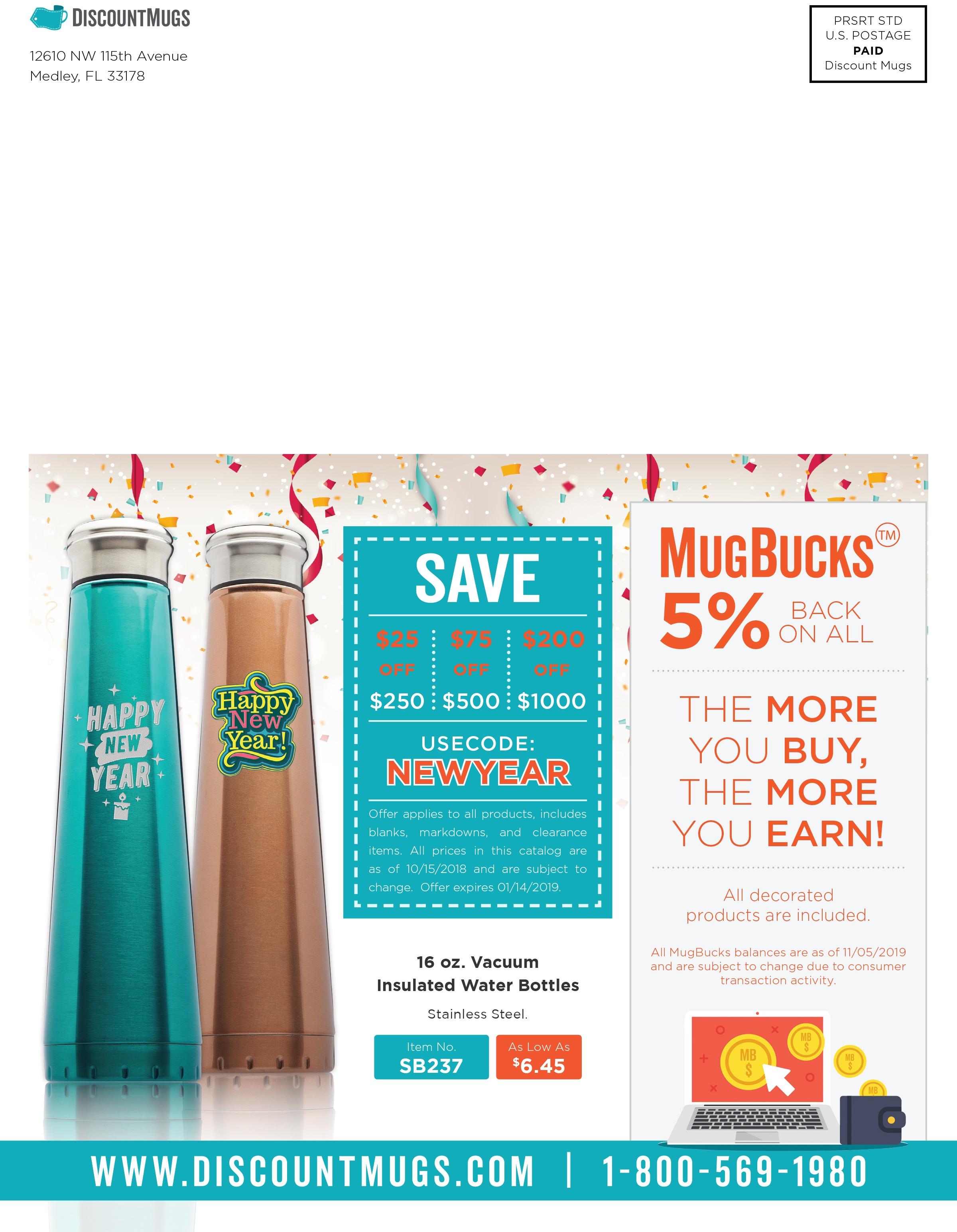 DiscountMugs 2019 New Year Catalog_Coupon Code