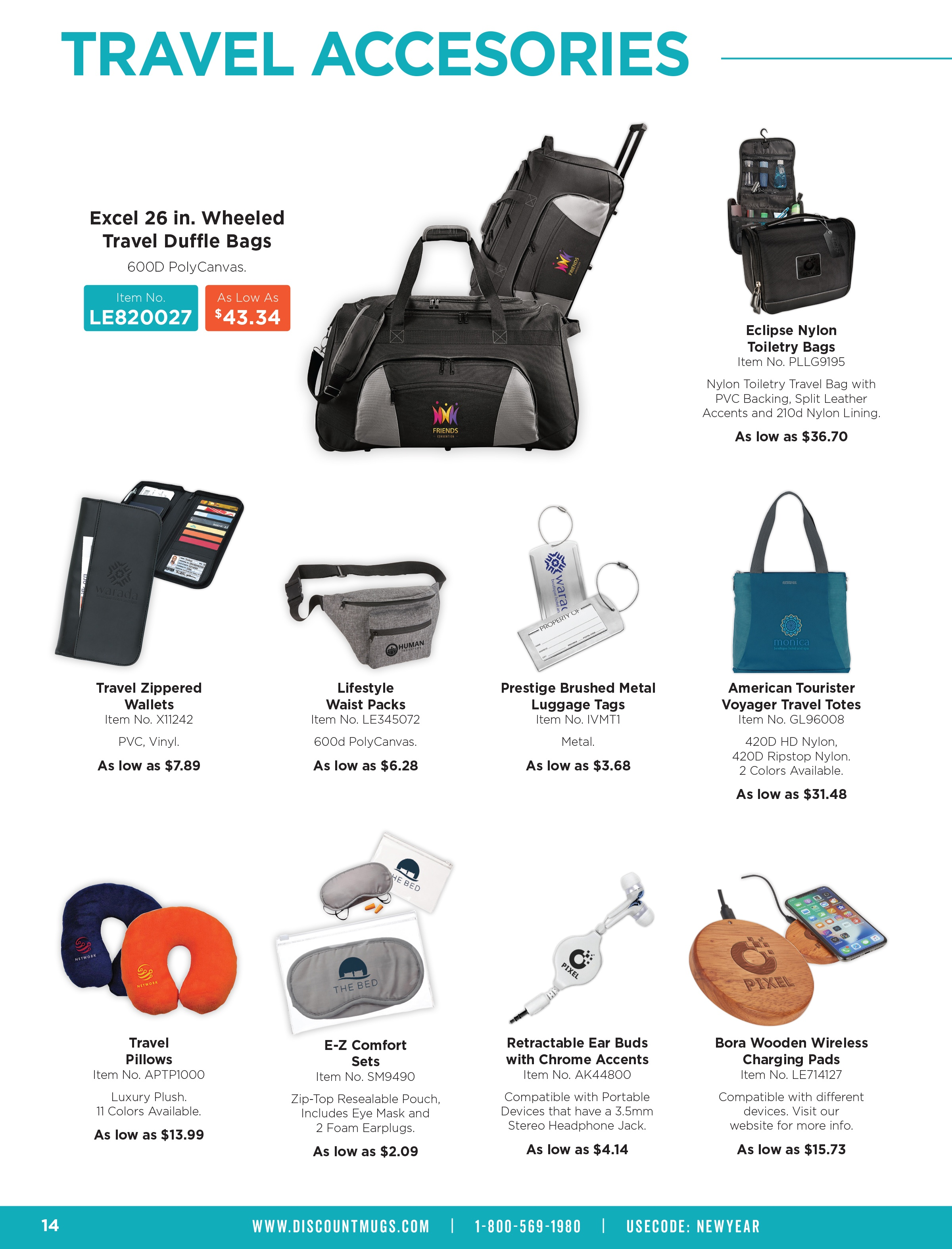 DiscountMugs 2019 New Year Catalog_Travel Accessories