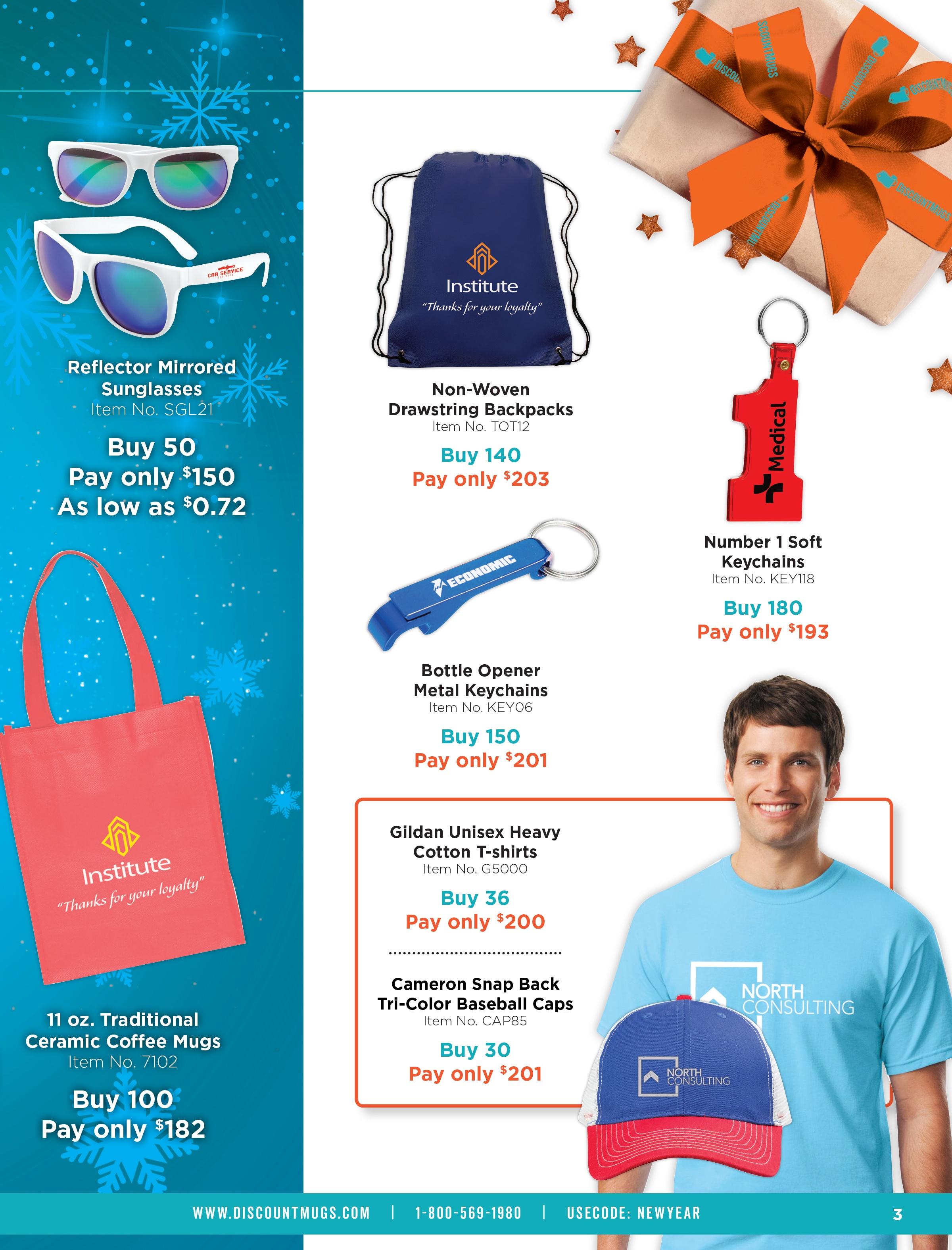 Holiday Gift Guide_DiscountMugs Year End Catalog