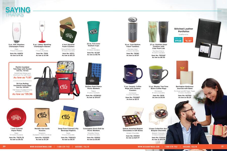 Saying Thanks_2019 DiscountMugs Downloadable Fall Catalog