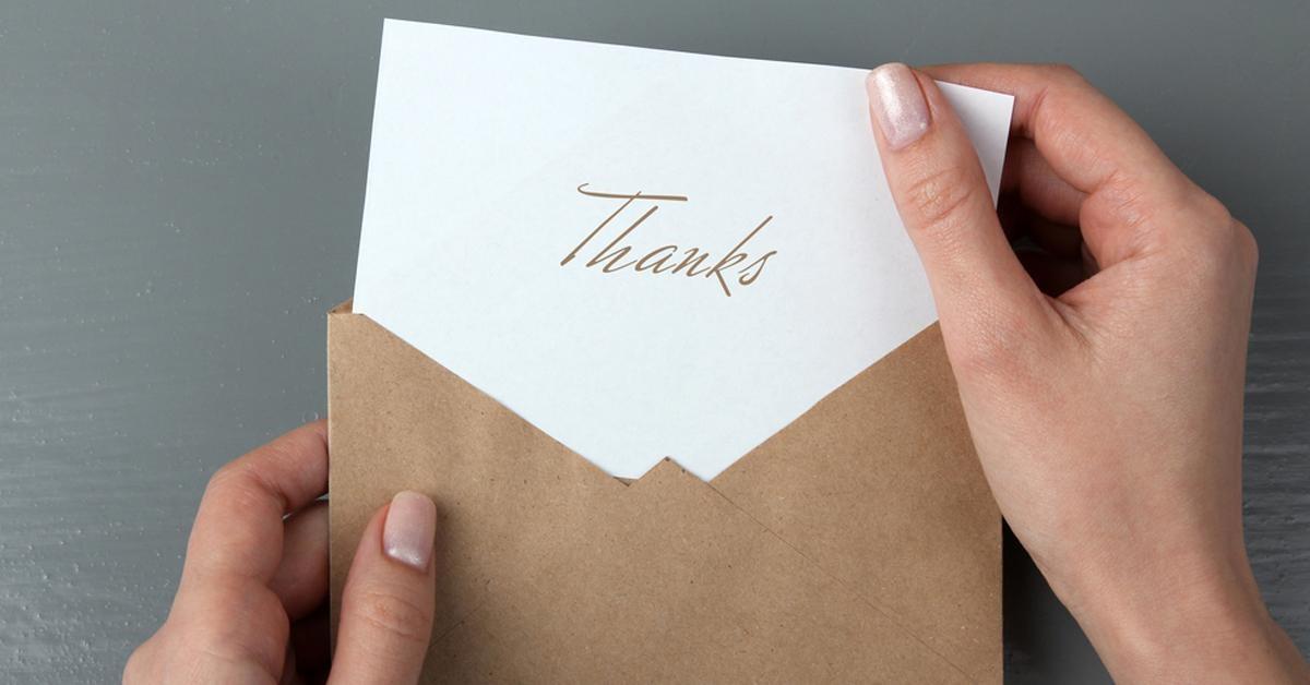 thank you notes gift idea