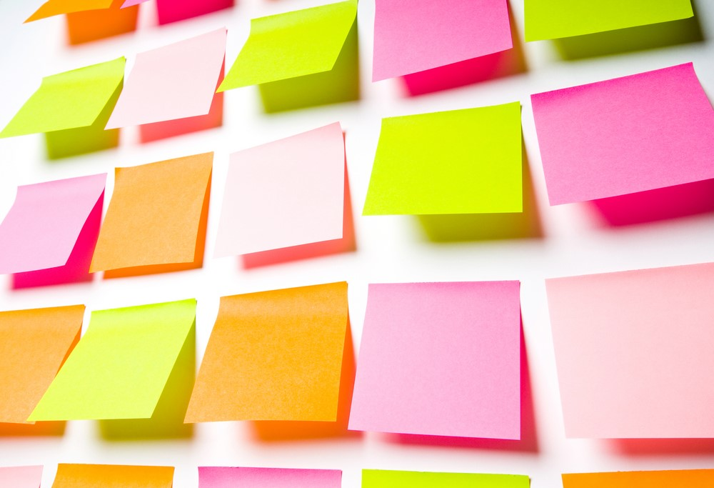 sticky note wall idea