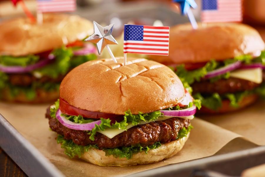 patriotic hamburger idea
