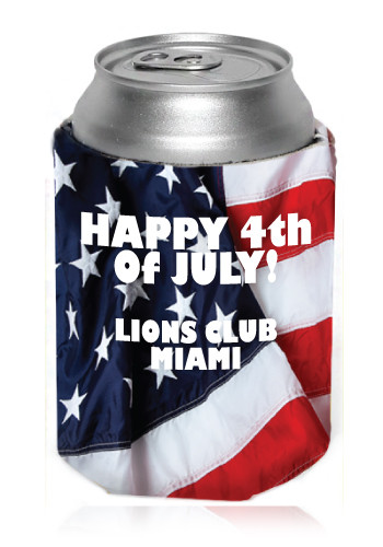USA Flag Can Coolers, Discount Mugs