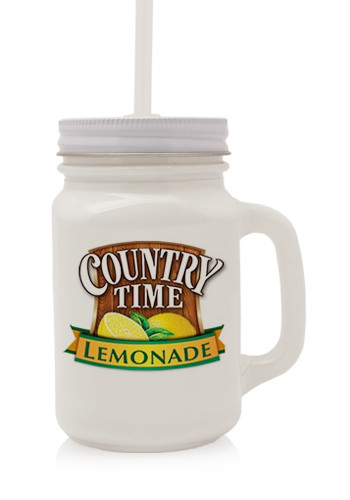 White Mason Jars, Discount Mugs