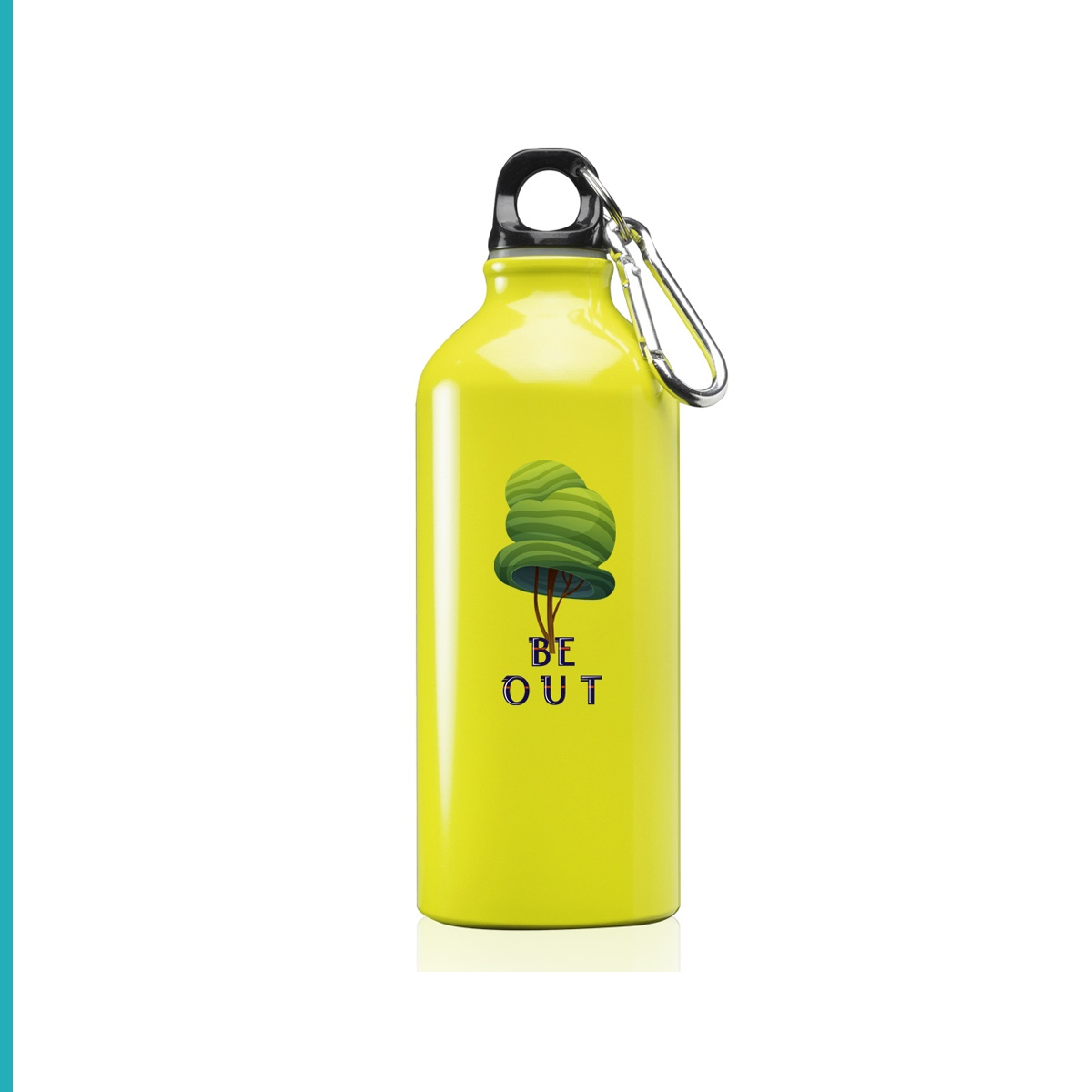 Aluminum Water Bottles with Carabiner