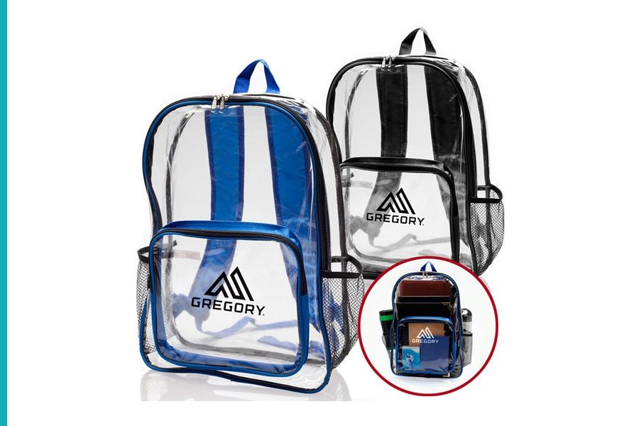 clear backpacks