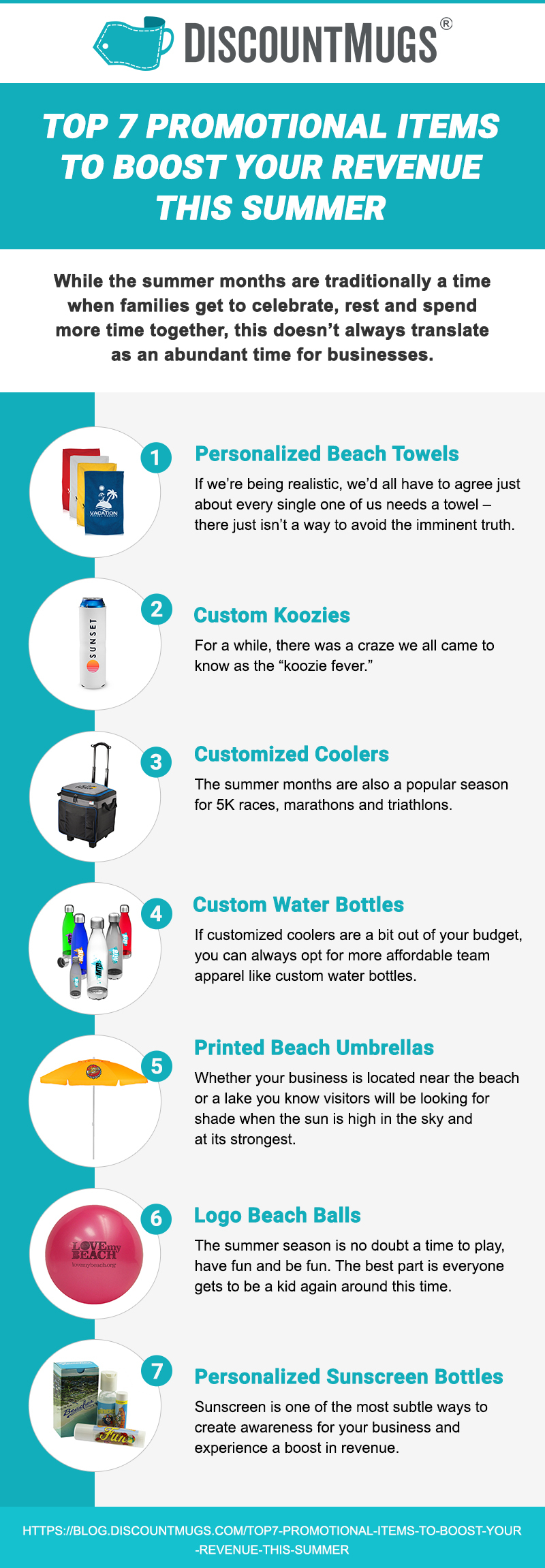 discountmug-infographic - top 7 promotional items to boost revenue summer