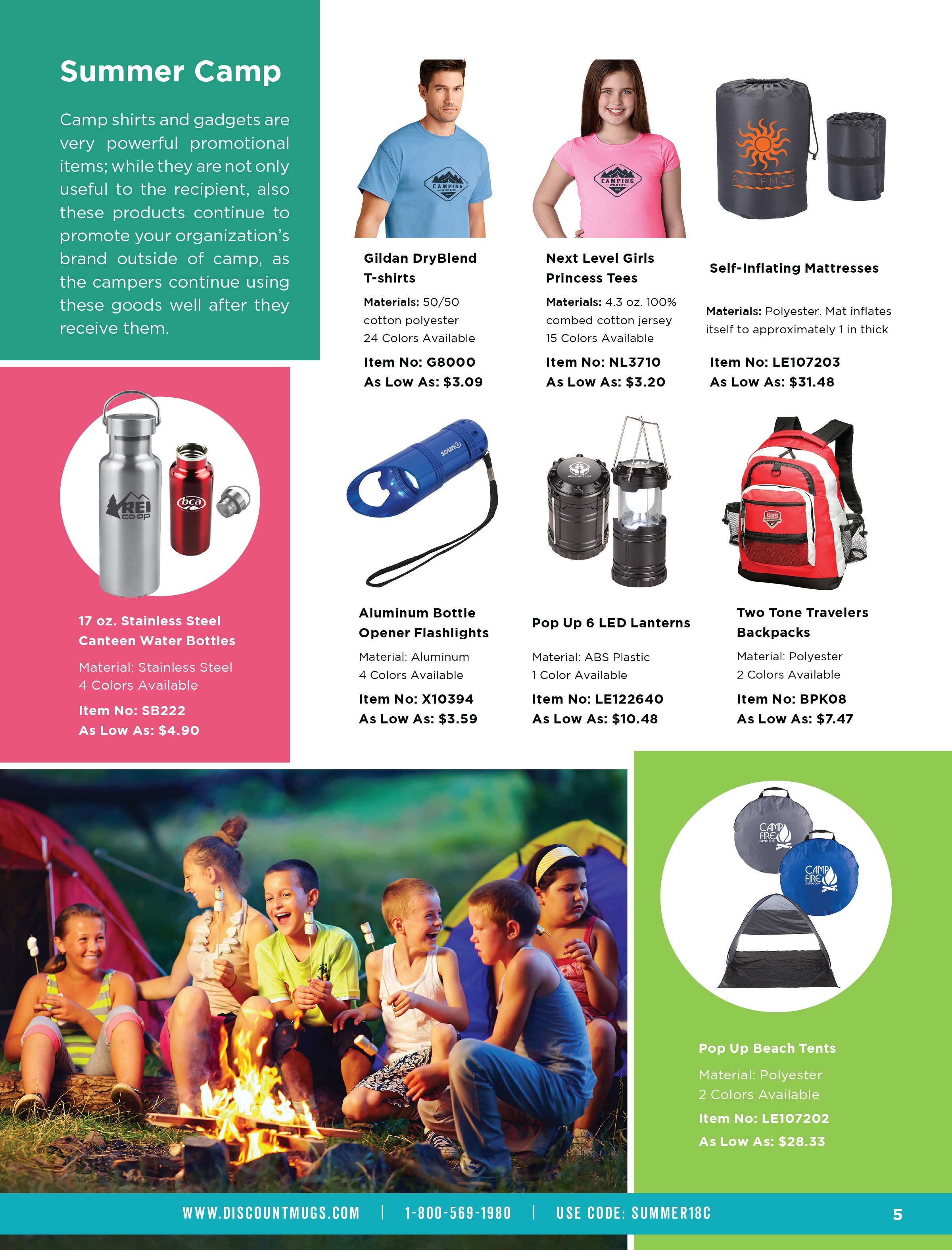 giveaway ideas for summer camp