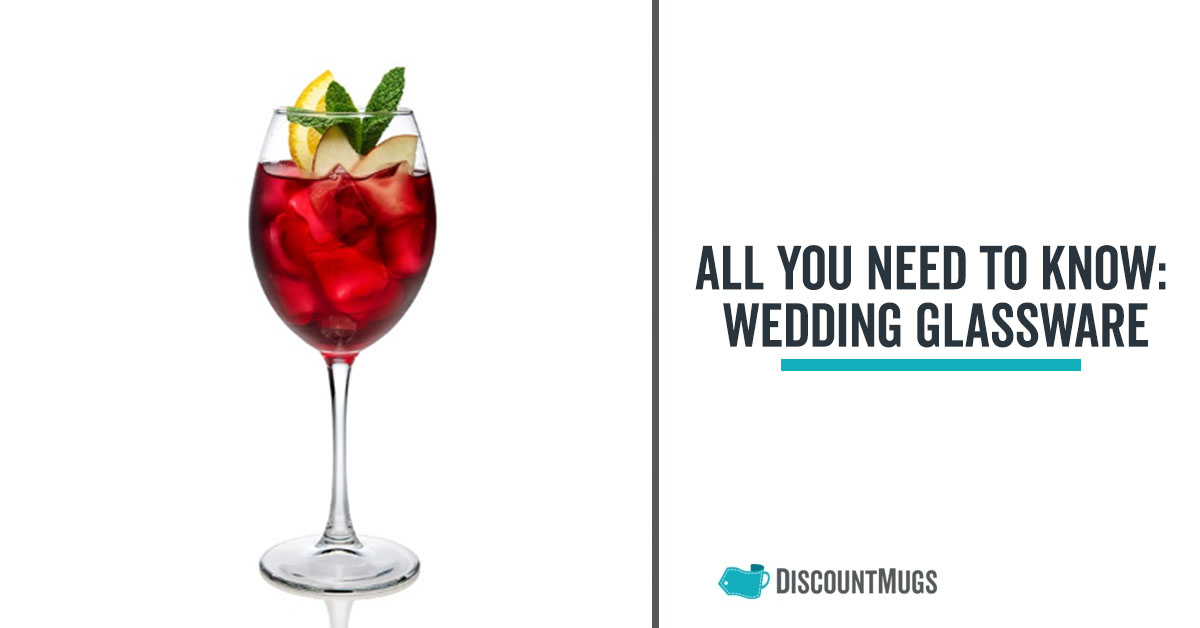 all you need to know about wedding glassware for a truly smashing event