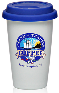 11 oz. Double Wall Ceramic Tumblers with Lid FREE SHIPPING ON THIS ITEM OVER $75