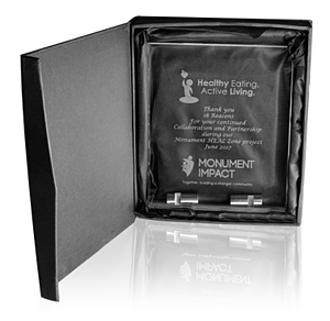 Small Chroma Glass Awards with Double Stand