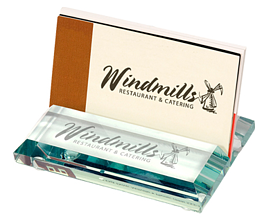 Atrium Clear Glass Business Card Holders