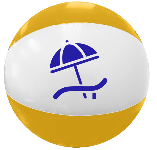 16 in. Two-Toned Inflatable Beach Balls