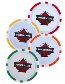ABS Plastic Poker Chip Ball Markers