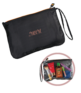 BRIGHTtravels Set of 3 Nested Travel Pouches