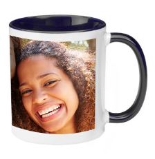 11 oz. Two Tone Ceramic Photo Mugs - No Minimum