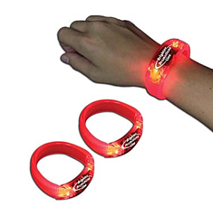 8 in. Light Up LED Glow Bangle Bracelets
