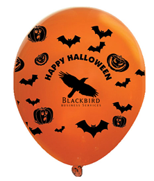 Happy Halloween Wrap Latex Balloons
