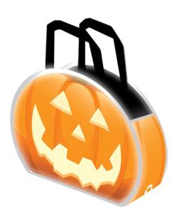 Reflective Halloween Pumpkin Tote Bags