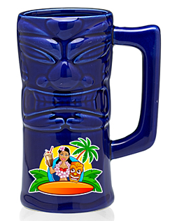 13 oz. Tiki Ceramic Mugs