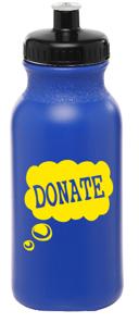 20 oz. Water Bottles with Push Cap