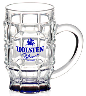 17.75 oz. Dimpled Glass Beer Mugs