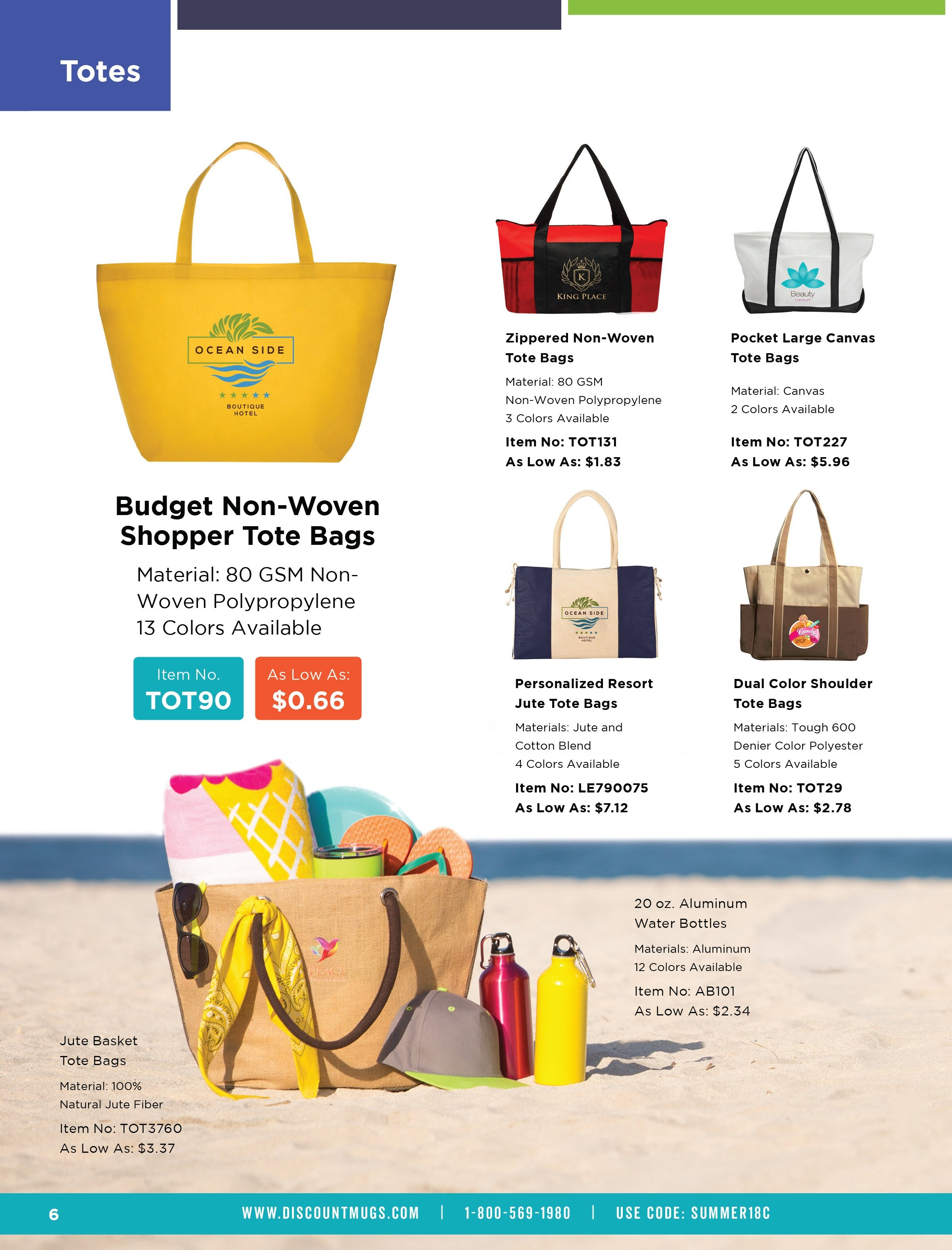 personalized beach tote bags